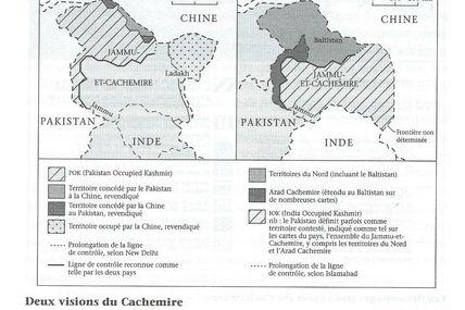Les frontières de l'Inde