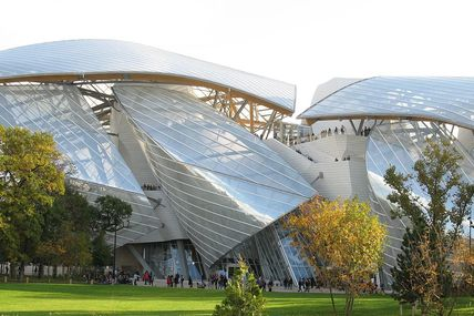 Le bâtiment de la fondation Louis Vuitton