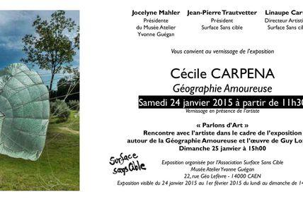 """Exposition """"Géographie Amoureuse"""" invitée par Surface Sans Cible au Musée Yvonne Guégan"""