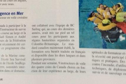 Article de Gaël Simon - L'escale Nautique, printemps 2016.
