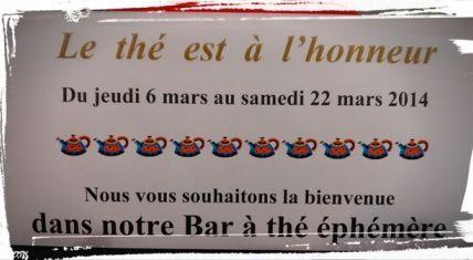 Bar à thé éphémère à Niort