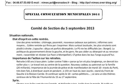 INFO SECTION N° 55 - SEPTEMBRE 2013