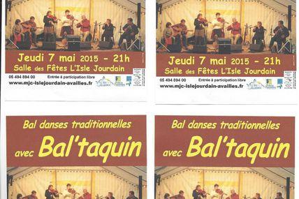 Bal Taquin jeudi 7 mai à L'Isle Jourdain !
