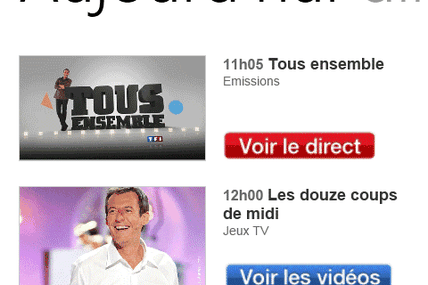 TF1 sous windows phone