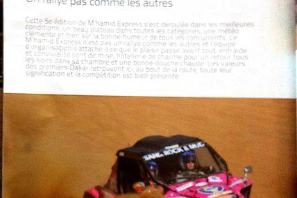 Un nouvel article dans Gentlemen Drivers et la vidéo du gros buggy sur notre rallye du maroc, moto ssv quad 4x4 buggy
