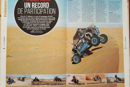 Le Monde du Quad, un article sur les quad et les SSV du M'hamid Express 2016, rallye raid Maroc