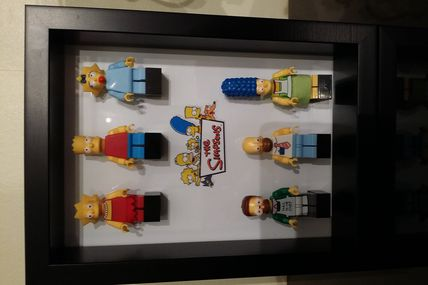 Cadre photo-display Minifigs Simpsons