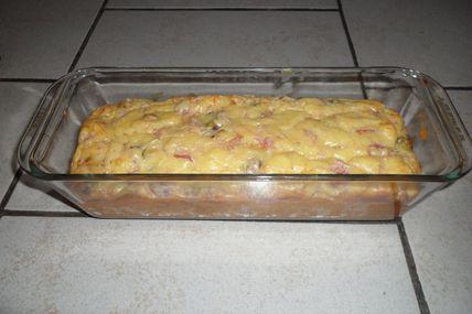 Cake au jambon et pistache