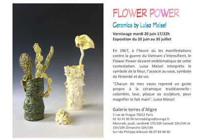 Flower Power. Ceramics by Luisa Maisel