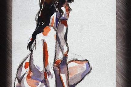 Modèle Vivant 10 minutes / Life-drawing of 10 minutes
