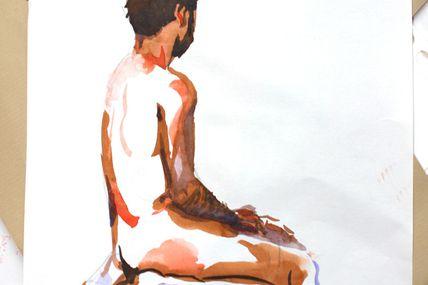 Modèle Vivant 8 minutes / Life-drawing 8 minutes