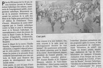 Le 17 avril 2000 Notre Dame des Millieres