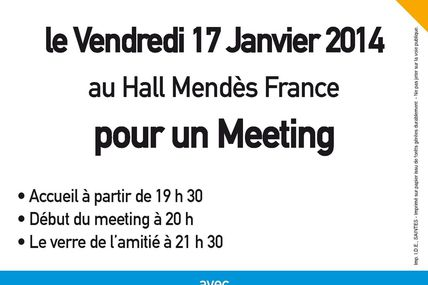Invitation meeting 17 Janvier