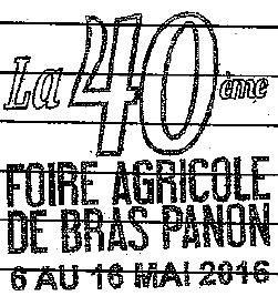 APOI et Foire agricole de Bras-Panon 2016