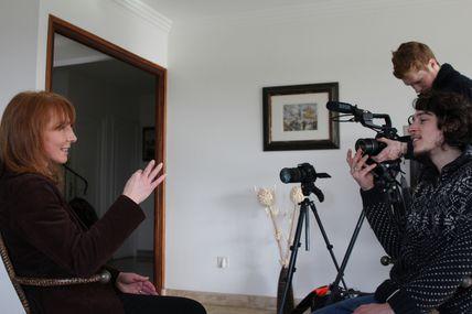Tournage d'un documentaire TV
