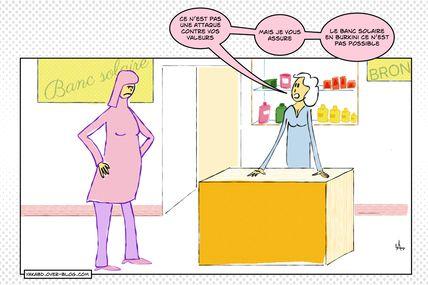 prise de bec au boulot ( burkini story )