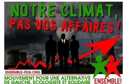 COP 21, l'auto car de Macron et Das auto de VW