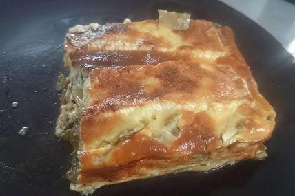 Gratin de courgettes et endives au camembert
