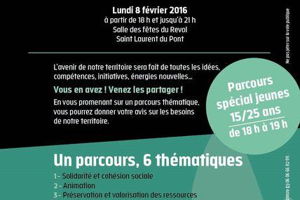 """Participez au """"Projet de territoire"""" de Coeur de Chartreuse, le 8 février 2016 à Saint Laurent du Pont"""