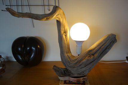 Lampe en bois flotté Ôboisdormant