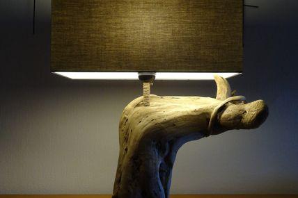 Mignonne lampe en bois flotté, forme originale...