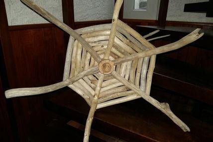 Lustre bois flotté en cours de création