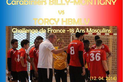 BILLY MONTIGNY vs TORCY HB MLV (CdF -18M) 12.04.2014