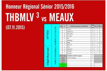 THBMLV 3 vs MEAUX (Honneur LIFE Séniors) 07.11.2015