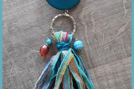 Bijoux de sac dans l'air du temps ! coloré , bohème !