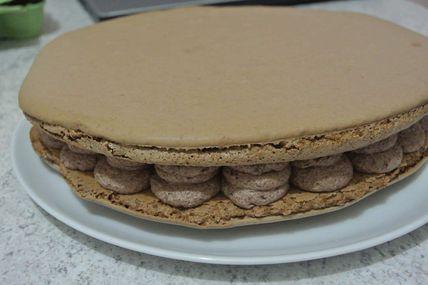 Macaron chocolat version ganache ou chantilly