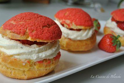 Choux fraises chantilly