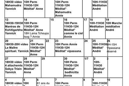Programme du mois de juin 2016