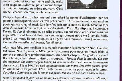 Un article sur Nos Disparus de notre ursidé Philippe Ayraud