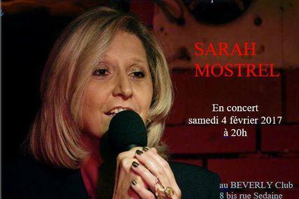 Notre ursidée Sarah Mostrel en concert le 4 février