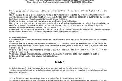 NOUVELLES - INFORMATIONS - reglementation -