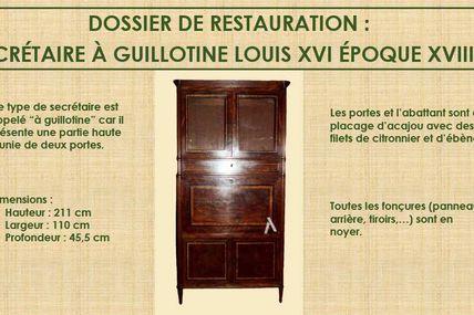 Secrétaire à guillotine Louis XVI époque XVIIIe