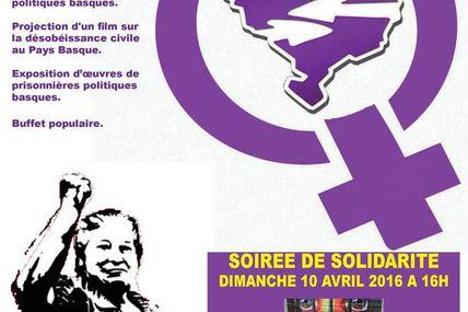 Semaine internationale de solidarité avec les prisonnier.e.s politiques : du 9 au 17 avril 2016.