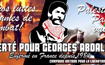 Exigeons la libération de Georges Ibrahim Abdallah à la fête de l'Humanité.