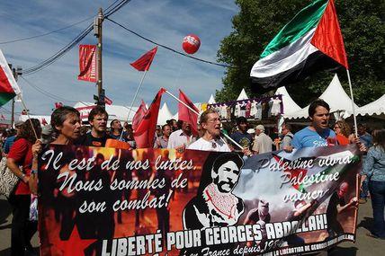 Succès à la Fête de l'Humanité de la manifestation pour la libération de Georges Abdallah.