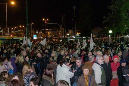 Parti communiste de Grèce: Reportage de photos des manifestations ouvrières