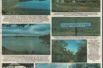 La beauté méconnue du lac de Tsiazompaniry et de ses environs - Les Nouvelles, 29 août 2006