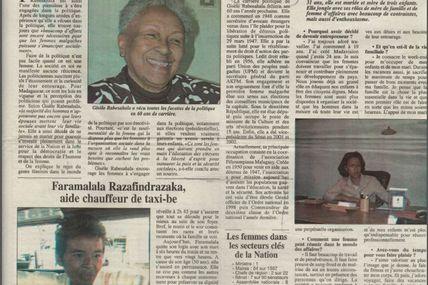 """Comment les femmes réussissent sur des terrains habituellement """"dévolus"""" aux hommes - Les Nouvelles, 10 mars 2006"""