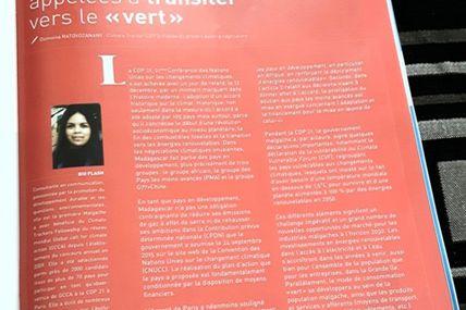 Accord de Paris Les industries malgaches appelées à transiter vers le « vert » - Expansion Magazine, édition n°01 janvier-février 2016