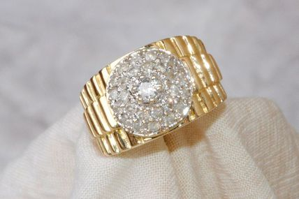 SPLENDIDE BAGUE DOME 2 TONS 18 K CARATS - DIAMANTS - 0,78 ct   REF / 0012