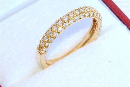 BAGUE DEMI ALLIANCE EN OR 18 K ( 750 ) - DIAMANTS    REF / B 861