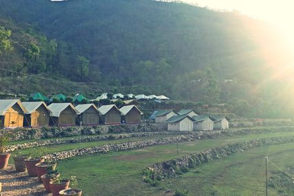 Vatika Camp Site in Rishikesh.