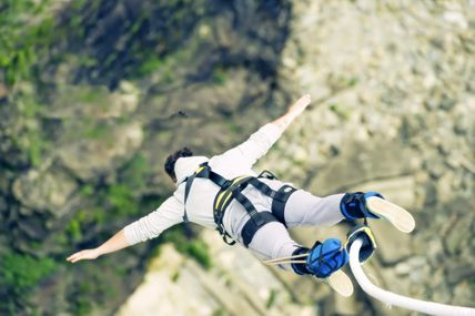 Bungee Jumping: The Free Fall in Rishikesh.