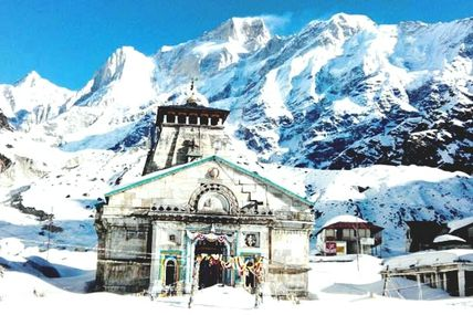 Kedarnath Dham under Blanket of Snow