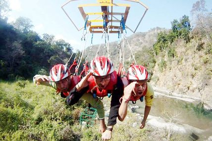 Flying Fox Activity in Rishikesh