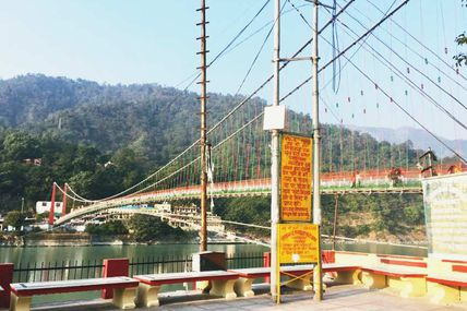Evening View of the Ram Jhula, Rishikesh